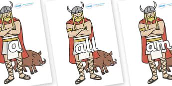 Foundation Stage 2 Keywords on Vikings - FS2, CLL, keywords, Communication language and literacy,  Display, Key words, high frequency words, foundation stage literacy, DfES Letters and Sounds, Letters and Sounds, spelling