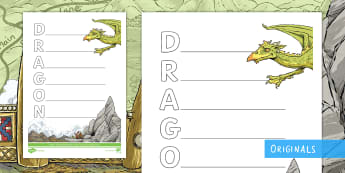 The Wyrmstooth Crown 'Dragon' Acrostic Poem - fantasy, writing, poetry, template, guided, fiction, reading