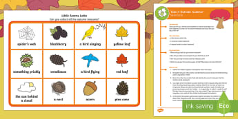 KS1 Take It Outside: Autumn Social - Little Acorns Lotto Activity - twinkl originals, fiction, Nature Detectives, Forest School, Outdoor Learning, Autumn, Story, Fictio