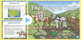 Oregon Trail Overview PowerPoint - State Studies, social studies grade four, powerpoint, Oregon Social Studies Standards