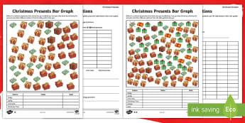 Christmas Presents Bar Graph Differentiated Activity Sheet - christmas, maths, graphs, problem solving, data handling,Scottish