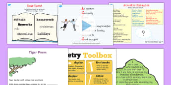 KS1 World Poetry Day Resource Pack - poems, poetry, world poetry day