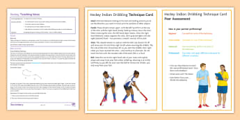 Hockey Lesson 4: Indian Dribbling - Hockey, Winter Sport, Invasion Game, Lesson Plan, Technique Card