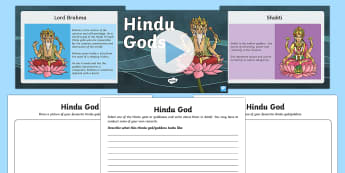 Hindu Gods Information PowerPoint and Worksheet Pack - hindu, hinduism, hindu powerpoint, hindu gods, hindu beliefs, hindu gods information powerpoint, Re