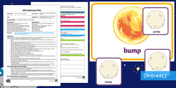 EYFS Back to Earth with a Bump Rhyming Activity Adult Input Plan and Resource Pack - Twinkl Originals, Back to Earth with a Bump, fiction, story, Space, Planets, rhyme, Hal, Sun, blendi