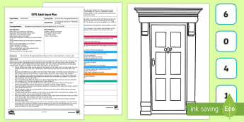 EYFS My Front Door Recognising Numerals Adult Input Plan and Resource Pack - Mathematics, number, numbers, recognise, House, homes, personal significance, door, EYFS, Early Year