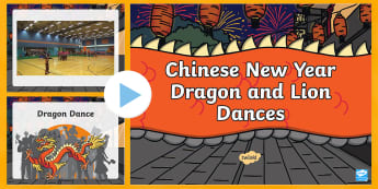 chinese new year dragon and lion dance videos powerpoint