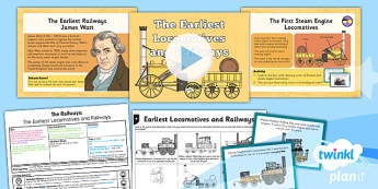 History: The Railways: The Earliest Locomotives and Railways LKS2 Lesson Pack 1