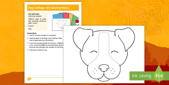 KS1 Year of the Dog Collage Activity - chinese new year, collage, decoupage, pop art, animal pictures