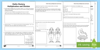 Year 6 Multiplication and Division Maths Mystery Activity Sheet - KS2, mastery, investigations, deeper understanding, multiplication, division, year 6., pp, ppt