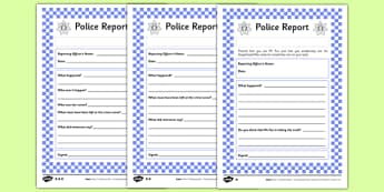 The Gingerbread Man Police Report Differentiated Activity Sheet Pack - traditional stories, traditional tales, recounts, statement, worksheet