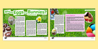 Why the Eggs and Bunnies? Article - Easter, spring, newspaper