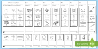 Phase 2 Phonics Activity Sheet Bumper Pack - -Irish - Republic of Ireland Phonics Resources, initial sound, vocabulary, alphabet, sounding out, tracing, l
