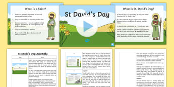 St David's Day Assembly Pack - St David's Day, Wales, daffodil, leek