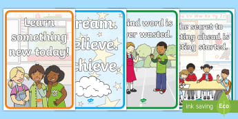 Motivational Quotes Display Posters - classroom management, class, display, poster, kindness