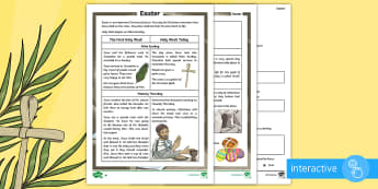 KS2 Easter Differentiated Comprehension Go Respond  Activity Sheets - KS2 Easter 2017 (16th April), festival, celebration, Christianity, RE, Christians, Easter, Easter KS