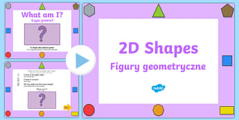 What Am I? 2D Shape Properties PowerPoint Polish Translation