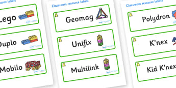 Frog Themed Editable Construction Area Resource Labels - Themed Construction resource labels, Label template, Resource Label, Name Labels, Editable Labels, Drawer Labels, KS1 Labels, Foundation Labels, Foundation Stage Labels
