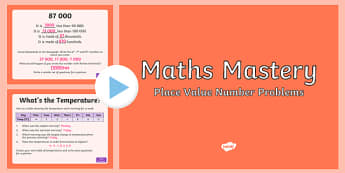 Year 5 Place Value Number Problems Maths Mastery Activities PowerPoint