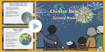 All About Chinese New Year PowerPoint English/Afrikaans - January, celebration, festival, traditions, tradisies, lande, EAL