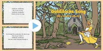 Goldilocks Song PowerPoint