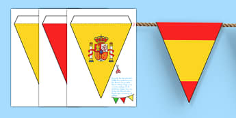 Spanish Flag Bunting - spanish, flag, bunting, flag bunting, spanish bunting, spanish flag, spain themed bunting, spanish decoration, spain, decoration