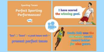 SPaG-Tastic! : Perfect Sporting Performances (What Is the Present Perfect Tense?) Video - grammar, tenses, Y3, year 3, contrast, simple past, Twinkl Go, twinkl go, TwinklGo, twinklgo