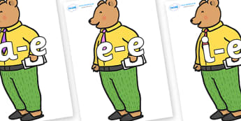 Modifying E Letters on Mr Bear to Support Teaching on The Jolly Christmas Postman - Modifying E, letters, modify, Phase 5, Phase five, alternative spellings for phonemes, DfES letters and Sounds