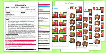 Name Trains EYFS Adult Input Plan and Resource Pack - adult, input, plan