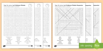 Global Issues Differentiated Word Search Spanish - secondary, revision, 15, minutes, KS4, global, issues, differentiated, word, search, higher, middle,