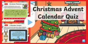 Year 2 Christmas Advent SPaG PowerPoint - advent calendar, xmas, festive, morning starter, daily questions, revision, christmas morning starter, christmas morning activity, Christmas Morning English Task