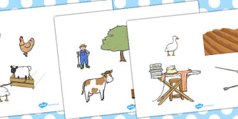 Farmer and Duck Story Cut Outs - farmer duck, story cut outs, story, story characters, character cut outs, farmer duck characters, farmer duck cut outs