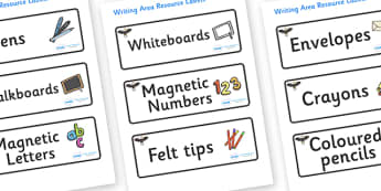 Eagle Themed Editable Writing Area Resource Labels - Themed writing resource labels, literacy area labels, writing area resources, Label template, Resource Label, Name Labels, Editable Labels, Drawer Labels, KS1 Labels, Foundation Labels, Foundation