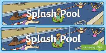Splash Pool Display Banner - SEN Resources, Special Educational Needs, Display Banner, Splash Pool, Special School, Swimming Pool