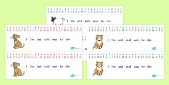 Alphabet Strips (General) - Alphabet, Learning letters, Writing aid, a-z