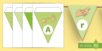 We are Learning Australian Sign Language (Auslan) Display Bunting - We are Learning Australian Sign Language, We are learning Auslan, auslan, display bunting, Sign Lang