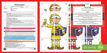 Build a Christmas Elf Addition Version Busy Bag Plan and Resource Pack - Planning, EYFS plan, Christmas, Xmas, Santa, Elves, Elf On The Shelf, Kindness Elves, Maths, Number