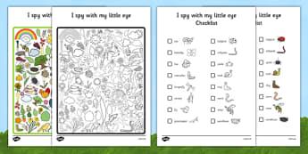 Minibeast Themed I Spy With My Little Eye Activity - EYFS, KS1, Early Years, Key Stage 1, phonics