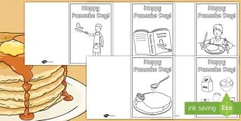 Happy Pancake Day Greetings Cards - pancake day greetings cards, shrove tuesday, pancake day, festivals, lent, pancake day, eating panca