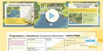 D&T: Programming Adventures: Designing Adventures Upper KS2 Lesson 2