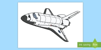 Space Shuttle Cut-Out - Reach For The Stars, space, picture, display