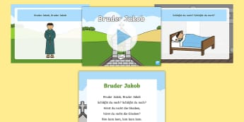 'Bruder Jakob' Song Sheet and PowerPoint German - Kinderlieder, Bruder Jakob, Lieder, Singen, PowerPoint, singing, are you sleeping, brother john