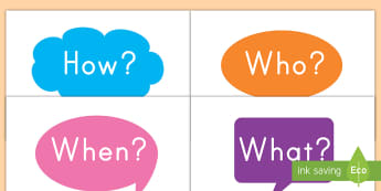 Question Words on Speech Bubbles Display Posters - literacy, spelling, words, question, display, what, when, how, why, who, grammar, vocabulary, word w