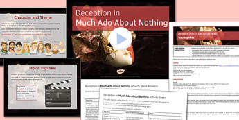 Deception in Much Ado About Nothing Lesson Pack - shakespeare, much ado about nothing, deception, themes, ks4, exam preparation, revision, key quotations