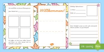 Willkommen Mini Buch - Informationen, Infos, Schuljahresbeginn, nächstes Schuljahr, letzter Schultag, erster Schultag, Dru