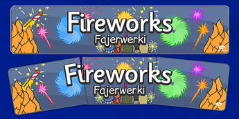 Bonfire Night Banners Fireworks Polish Translation - polish, bonfire night, banners