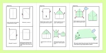 Origami Activity Instruction Sheets