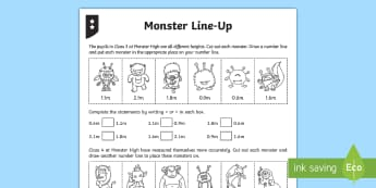 Comparing and Ordering Decimals Differentiated Activity Sheets - decimals, decimal numbers, compare, comparing, order, ordering, one decimal place, 1 decimal place,