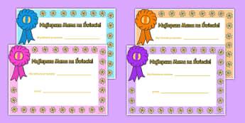 Karty ze słownictwem Dzień Matki po polsku - mama, maj