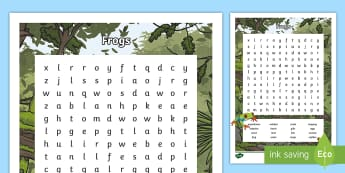 Australian Animals Years 3-6 Frogs Word Search- - Australian Animals, reptiles, cloze passages, activity sheets, word search, research, fast finisher,
